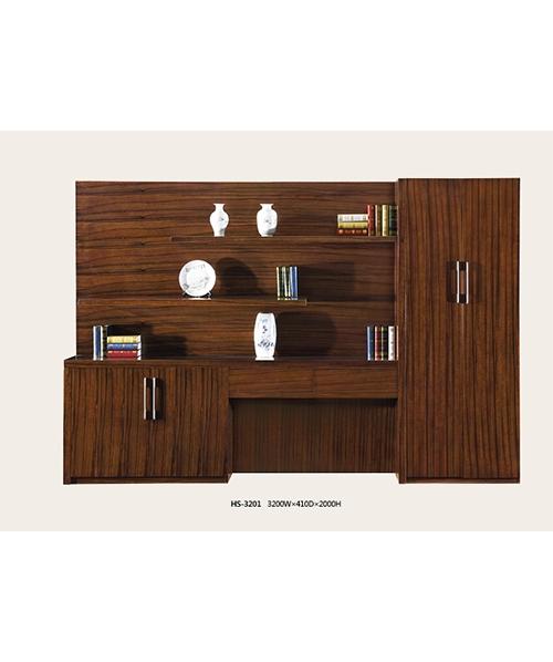 3201书柜乌金木木皮