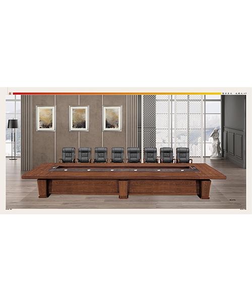 701款会议桌原木木皮