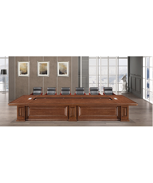 705款会议桌原木木皮