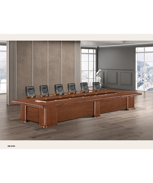 706款会议桌原木木皮