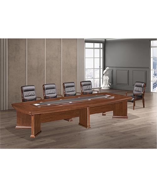 819款会议桌原木木皮